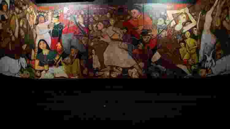 Painel da artista plástica Tereza Costa Rêgo retrata a batalha de Tejucupapo - Jan Ribeiro/Secult-PE/Fundarpe