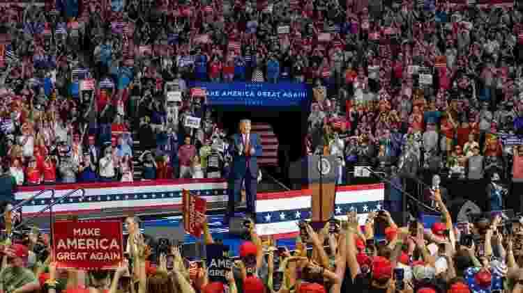 Trump comício em Tulsa - Divulgação - Divulgação