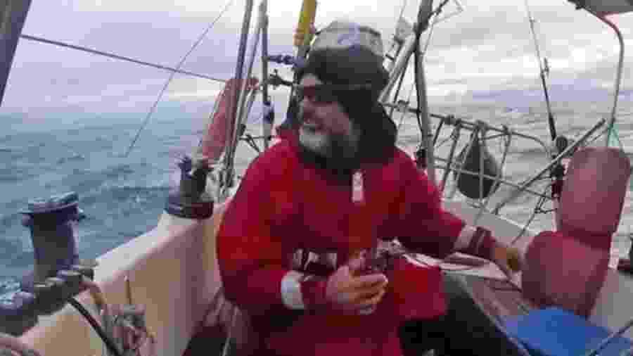 Ballestero navegou sozinho por três meses para poder estar com a família em Mar del Plata  - Arquivo pessoal