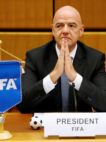 Presidente da Fifa, Gianni Infantino, quer mudar o calendário do futebol em 2024 - LEONHARD FOEGER