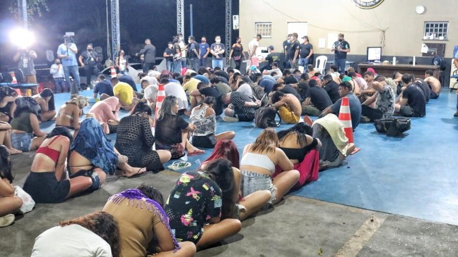 Polícia flagrou festa com mais de 100 pessoas no Amazonas - Divulgação/SSP-AM