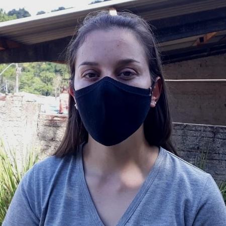 Aline Biazbetti, que ajudou a socorrer uma criança esfaqueada em Saudades (SC) - Hygino Vasconcellos/UOL