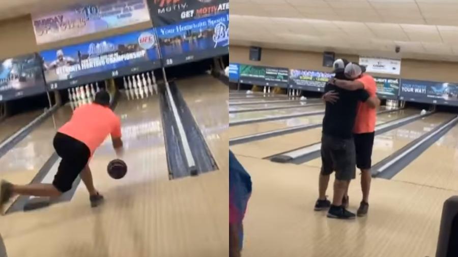 John Hinkle Jr. decidiu jogar boliche com uma bola na qual ele colocou as cinzas do pai  - Reprodução/John Hinkle/Facebook
