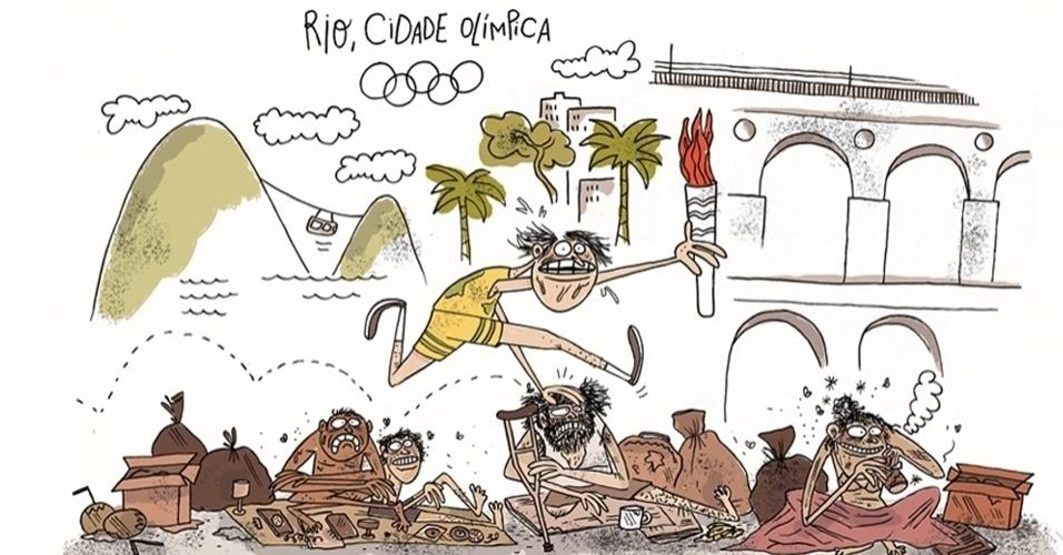 3.abr.2016 - O caminho da tocha olímpica
