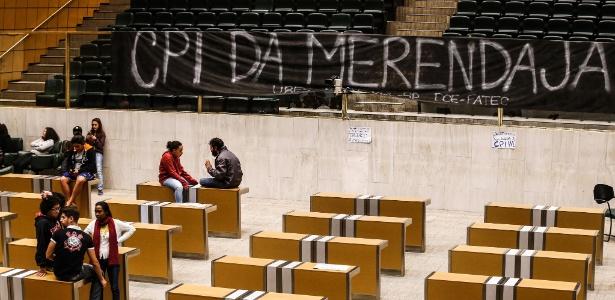 Estudantes ocupam a Assembleia Legislativa no começo de maio exigindo a instalação da CPI da Merenda - Lucas Lima/UOL