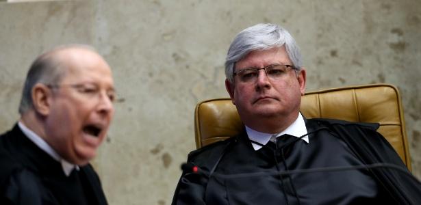 O procurador-geral da República, Rodrigo Janot (à direita)