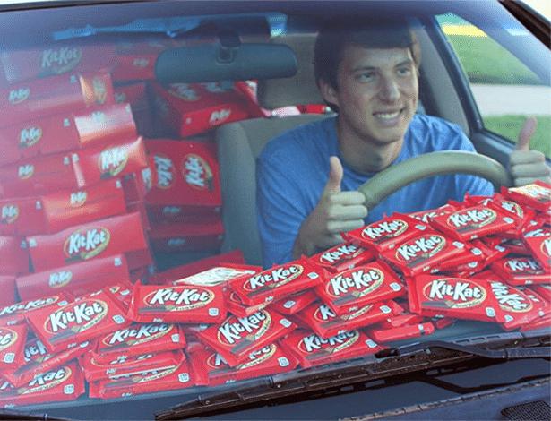 É muito Kit Kat para uma pessoa só...