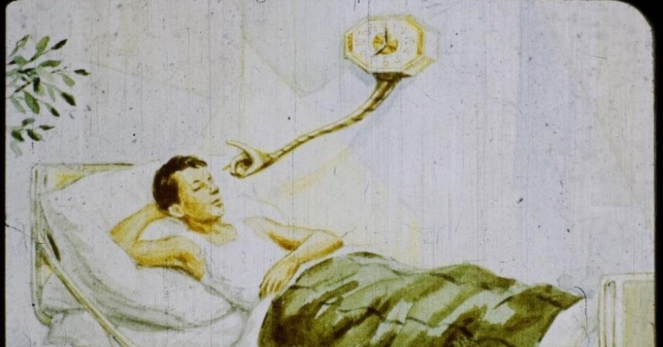 16.jan.2017 - Um relógio especial desperta Igor para que ele não perca a excursão