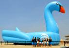 Califórnia tem o maior brinquedo inflável de piscina do mundo (Foto: Guinness World Records)