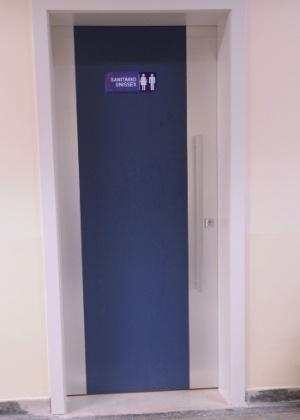 O banheiro unissex fica no primeiro andar do chamado prédio novo da PUC-SP - Reprodução/Facebook