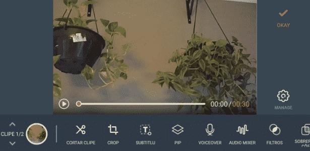 Edição de vídeo Filmora - Reprodução - Reprodução