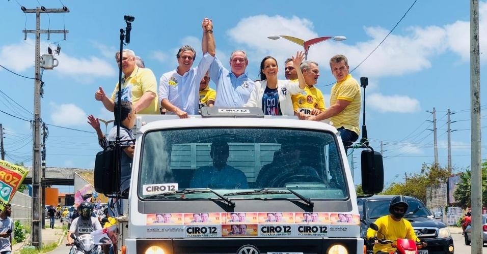 Candidato à presidência da República, Ciro Gomes (PDT) realiza carreata em Fortaleza (CE)