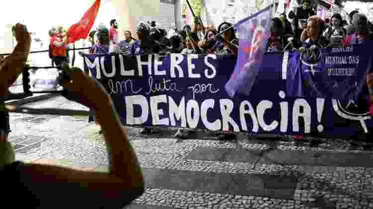 25.set.2018 - Mulheres protestam contra o candidato Jair Bolsonaro (PSL) em São Paulo - Nacho Doce/Reuters - Nacho Doce/Reuters