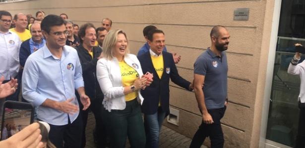 João Doria votou em colégio no bairro do Jardins, em São Paulo