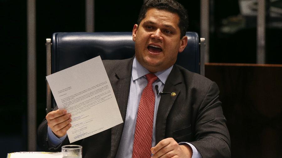 O presidente do senado federal, Davi Alcolumbre (DEM-AP) - Pedro Ladeira/Folhapress