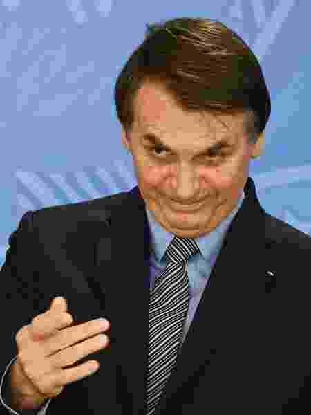 O presidente Jair Bolsonaro na cerimônia de sanção da lei da Liberdade Econômica - Evaristo Sá/AFP