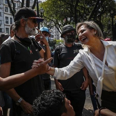 A deputada Joice Hasselmann (PSL-SP) em visita à região central de São Paulo - Reprodução/Instagram