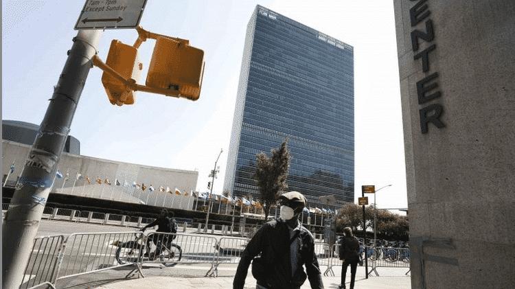 Arredores da ONU, que costumam ficar lotados durante os dias da Assembleia Geral, estão quase vazios - a maioria dos eventos ocorre virtualmente por causa da pandemia - EPA - EPA