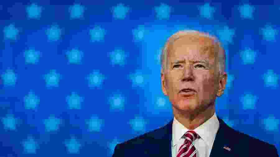 Joe Biden, candidato democrata à presidência dos EUA; defesa diz estar pronta para agir caso Trump leve eleições para a Justiça - Drew Angerer/Getty Images