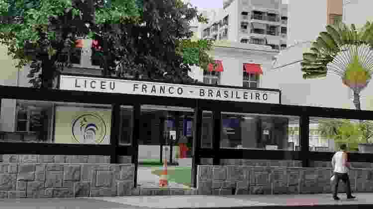 7.abr.2021 - Liceu Franco Brasileiro, em Laranjeiras, optou pelo retorno parcial - Marcela Lemos/UOL - Marcela Lemos/UOL