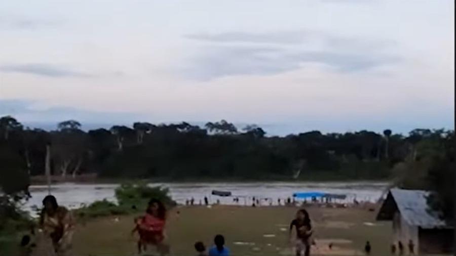 Vídeo mostra momento do tiroteio em reserva indígena ianomâmi - Reprodução