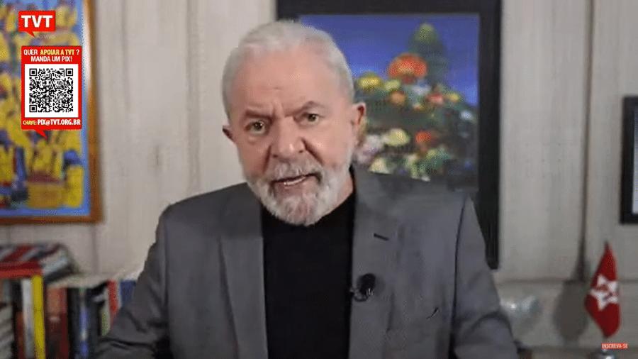 """Lula sobre Bolsonaro: """"Prefere ficar passeando de motocicleta, ofendendo o Lula, o Barroso, a Suprema Corte"""" - Reprodução/TVT"""
