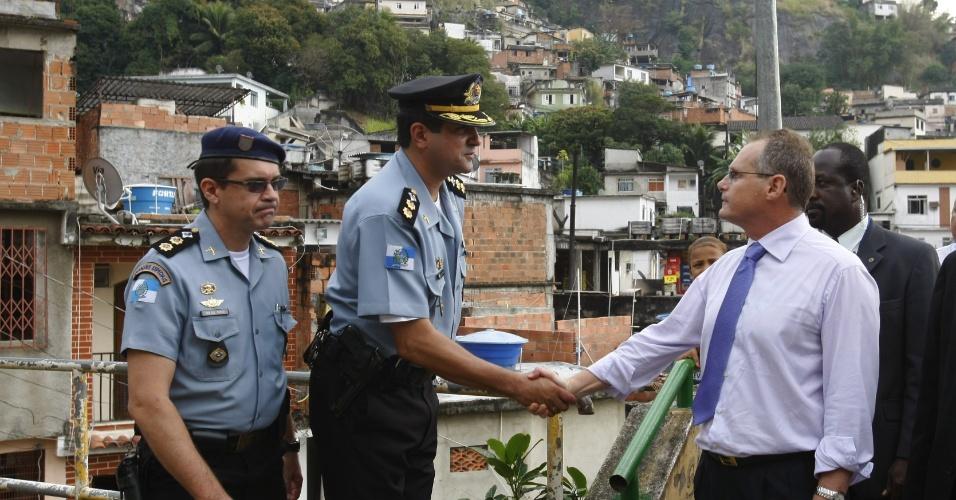 28.jul.2010 - O secretário de Segurança do Rio de Janeiro, José Mariano Beltrame, participa da inauguração da UPP do Andaraí, na zona norte