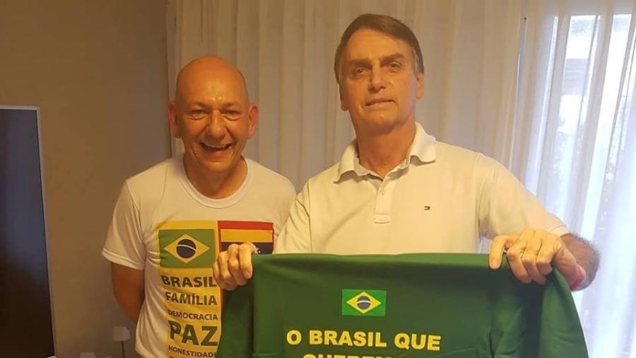 Luciano foi cabo eleitoral de Bolsonaro e postar nas redes sociais para publicar mensagens de repúdio à esquerda - Reprodução/Facebook