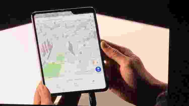 Galaxy Fold aberto tem tela de 7,3 polegadas - Gabriel Ribeiro/UOL