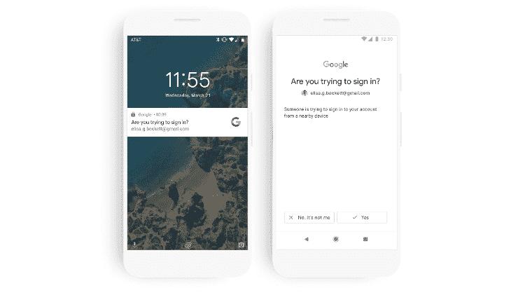 Celular Android poderá ser usado como 'segunda senha' para acessar serviços como Gmail e YouTube - Divulgação/Google