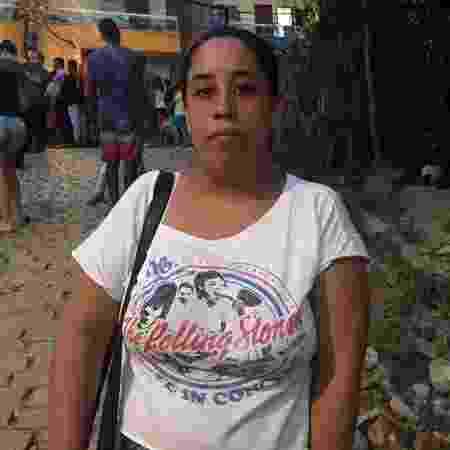 12.04.2019 - Thailane Pontes Pontes, sobrinha de Raimundo Nonato Nascimento, uma das vítimas de desabamento no Rio - Marina Lang/UOL