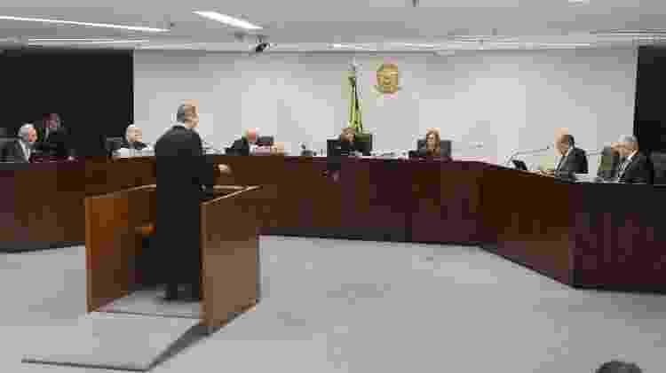 Cristiano Zanin, advogado de Lula, faz sua sustentação oral durante julgamento na 2ª turma do STF - Nelson Jr./SCO/STF