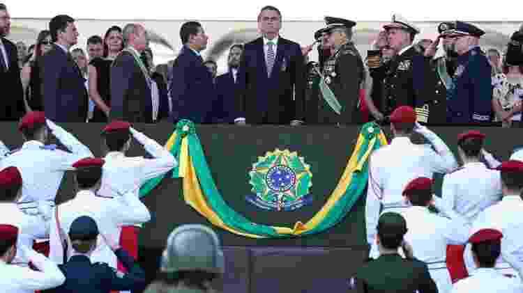23.ago.2019 - Presidente Jair Bolsonaro (SPL) participa de cerimônia do Dia do Soldado - Marcos Corrêa/Presidência da República