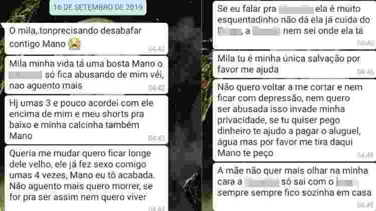 Adolescente fez apelo à irmã por WhatsApp  - Reprodução/WhatsApp