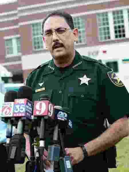 O xerife Billy Woods, do condado de Marion, no centro da Flórida, em imagem de 2018 - Gerardo Mora/Getty Images