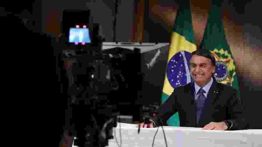 Jair Bolsonaro grava discurso para a 75ª Assembleia Geral da ONU - Marcos Corrêa/PR