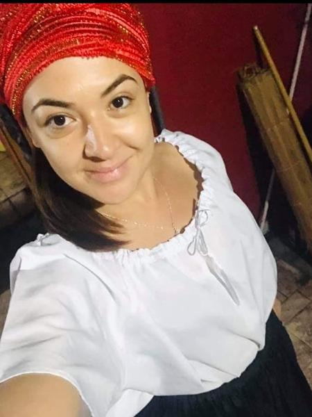 Juliana Arcanjo, 33, é candomblecista há 5 anos - Arquivo pessoal