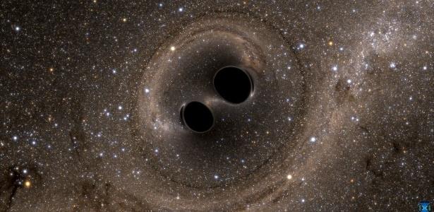 Uma poderosa colisão entre dois buracos negros foi registrada pela primeira vez em fevereiro. É a primeira vez que pesquisadores confirmam diretamente a existência das ondas gravitacionais