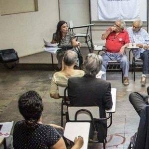 A professora da UFMG Maria Rosaria Barbato em debate sobre democracia
