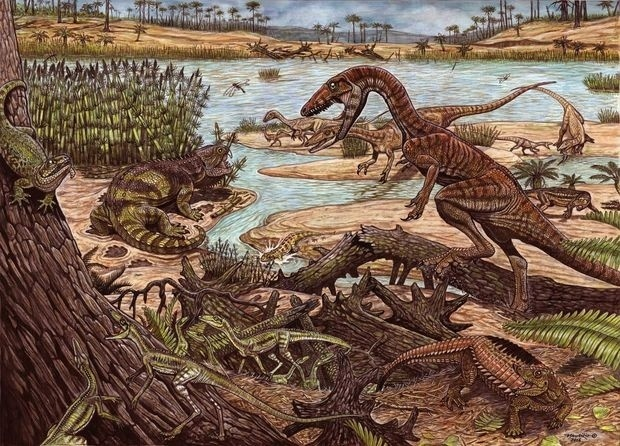 10.nov.2016 - Antepassado dos dinossauros é descoberto no Brasil