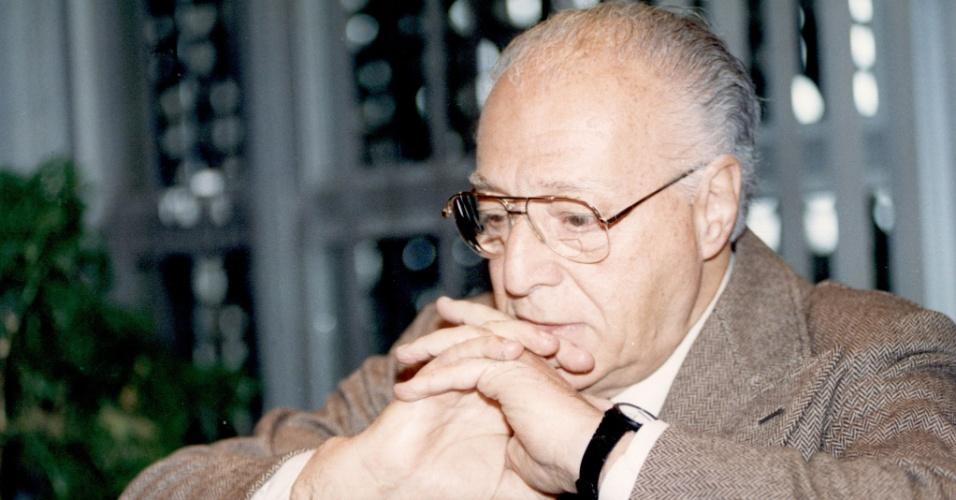 23.jul.1992 - O empresário Mario Amato, durante entrevista à Folha