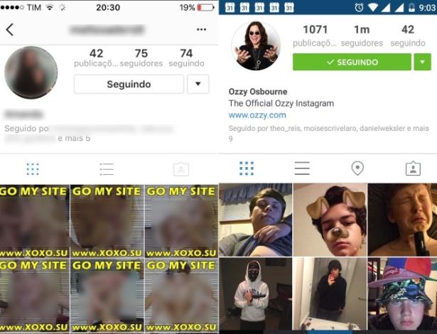 Contas do Instagram hackeadas