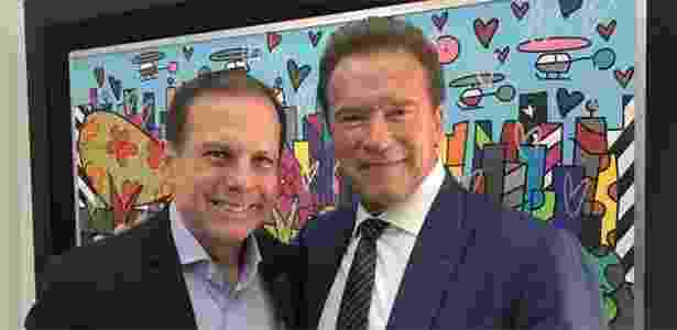 Schwarzenegger e Doria - Reprodução/Instagram/@schwarzenegger - Reprodução/Instagram/@schwarzenegger