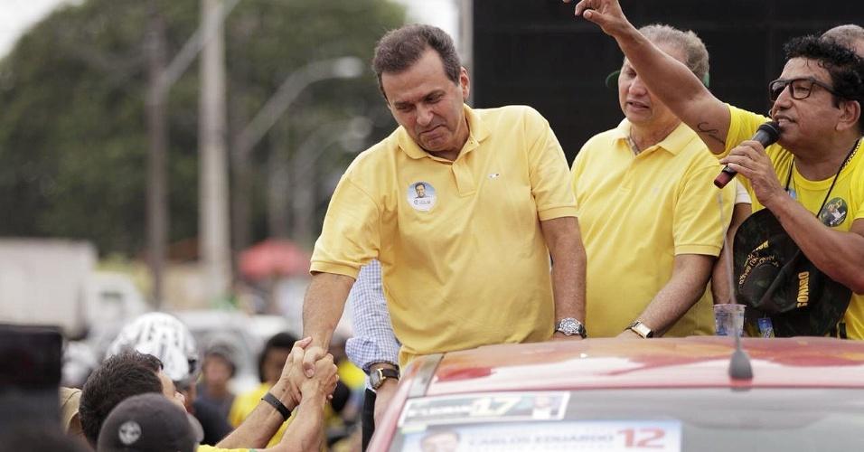 14/10/2018 ELEIÇÕES 2018 PODER O candidato ao governo do Rio Grande do Norte Carlos Eduardo (PDT-RN) durante agenda de campanha no segundo turno das eleições