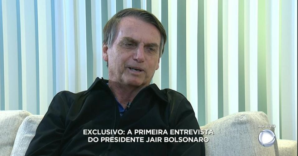 Jair Bolsonaro concede sua primeira entrevista exclusiva à TV Record