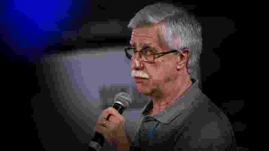 22.nov.16 - O educador português José Pacheco, durante um fórum em São Paulo - Bruno Santos/Folhapress