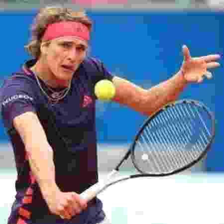 Tenista alemão Alexander Zverev teve dificuldades em entender pergunta de repórter inglês - Getty Images - Getty Images