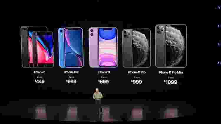 Apple anuncia preços do iPhone 11, iPhone 11 Pro, iPhone 11 Pro Max, e os antigos iPhone 8 e iPhone XR - Bruna Souza Cruz/Tilt/UOL