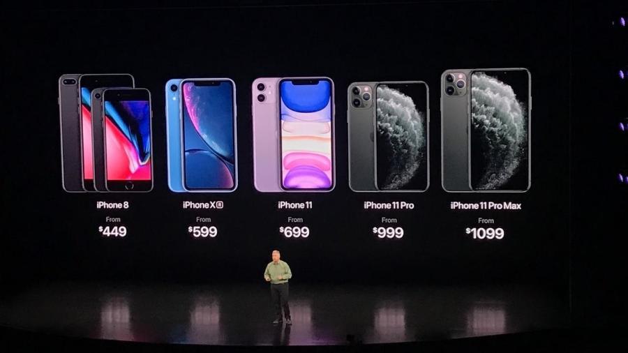 Apple deve trazer quatro novos iPhones em 2020 (acima, lançamento da linha 2019 de celulares da empresa) - Bruna Souza Cruz/Tilt/UOL