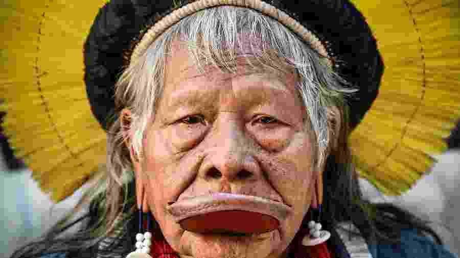 O líder indígena Raoni Metuktire - Nicolas Tucat/AFP